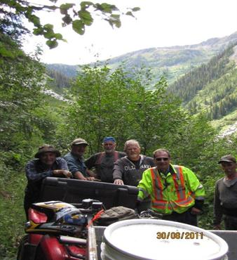 Crew at Red Elephant site in summer 2011